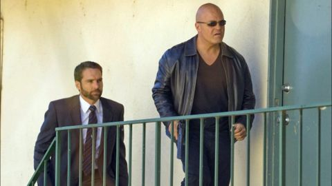 """FX's """"The Shield"""" was a gritty precursor to a few other cop shows and received lots of acclaim. Star Michael Chiklis, right, won an Emmy for best lead actor in a drama in 2002, but the series never scored."""