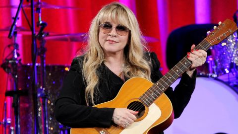 """Stevie Nicks, seen here receiving the BMI Icon Award at the BMI Pop Awards in May, is also a new cast member of NBC's """"The Voice."""" But before she was on """"The Voice's"""" team, she was a rocking member of Fleetwood Mac:"""