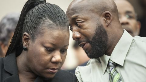 """Sybrina Fulton and Tracy Martin, Trayvon Martin's parents, have been actively engaged in working to change """"stand your ground"""" laws. They also have been speaking to groups and conventions around the country about ethnic profiling and prevention of violent crimes. They established a foundation in their son's name, which provides stipends to families who have lost children to gun violence."""