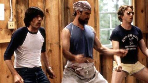 """The 2001 spoof """"Wet Hot American Summer"""" is a fun look at how camp counselors can learn the same lessons in friendship, love and life as their charges. Pictured: Michael Showalter, Christopher Meloni, A.D. Miles. Click through the gallery for more on-screen camp experiences."""