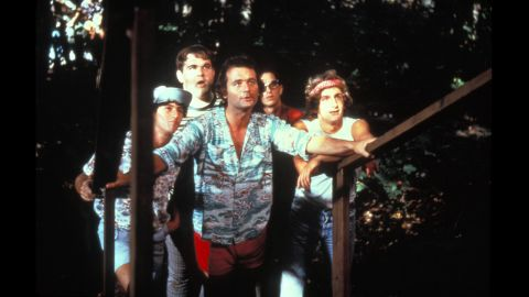 """The practical jokes don't stop in the 1979 camp classic """"Meatballs,"""" starring Bill Murray, center. Care packages filled with whoopee cushions and fake spiders would have kept these jokers in business all summer."""