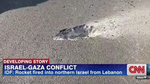 Israeli Defense Forces say a rocket fired into northern Israel came from southern Lebanon.