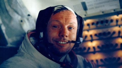 """Neil Armstrong, pictured inside the lunar module, made the """"giant leap for mankind."""""""