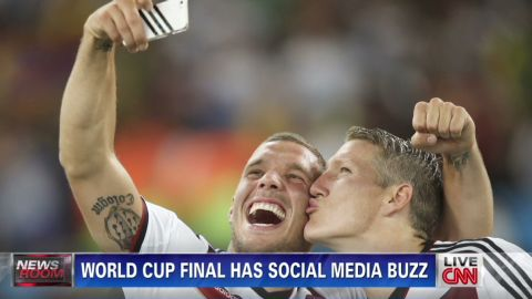 Social media, like selfies, became a part of the 2014 World Cup's story, with record online engagement.
