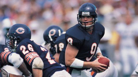 Chicago Bears quarterback Jim McMahon (Rich Pilling/SN Archive) (Photo by Rich Pilling/Sporting News/Getty Images)