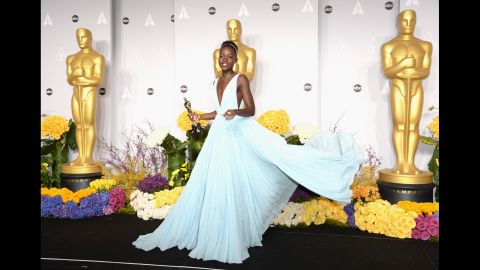 """<strong>Best:</strong> During awards season, Lupita Nyong'o won moviegoers' hearts, dazzled on the red carpet and took home a bunch of acting awards, including the best supporting actress Oscar for """"12 Years a Slave."""" The gifted actress was also People magazine's """"Most Beautiful"""" person, and she's been cast in """"Star Wars: Episode VII."""" Nyong'o's only worry may be that no other year can compare with 2014."""