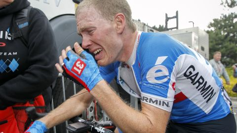 Tears of joy. Talansky was overcome with emotion after winning the eighth stage of the Dauphine Libere to take the overall honors ahead of top Tour de France contenders.