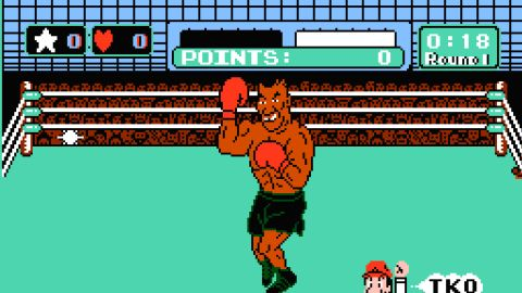 """""""Punch-Out!!"""" and """"Super Punch-Out!!"""" were arcade games first. But when they hit Nintendo home systems in 1987, the then-heavyweight champ's name and image were added. Players who beat a list of fictional characters could take on Tyson in a super-challenging bout. After Nintendo's license to use Tyson's image ended -- and he'd lost the title to James """"Buster"""" Douglas -- the final opponent became """"Mr. Dream."""""""