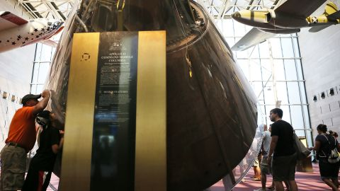 The command module from Apollo 11 brought astronauts safely back to Earth.
