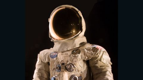This spacesuit was worn by astronaut Neil Armstrong, commander of the Apollo 11 mission, which landed the first man on the moon on July 20, 1969.