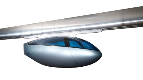 The pods weigh around 300 pounds and rely on the lift and thrust of electromagnets to levitate and move them forward.
