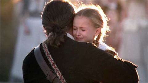 """<a href=""""http://www.cnn.com/2014/07/20/showbiz/obit-skyemccolebartusiak/index.html"""" target=""""_blank"""">Actress Skye McCole Bartusiak</a>, seen here with Mel Gibson in """"The Patriot,"""" died Saturday, July 19, at her home in Houston, according to her mother.  She was 21. Bartusiak played Gibson's youngest daughter in the film, one of her best-known roles."""