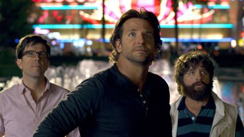 """Bradley Cooper, center, has earned both the money and critical accolades over the past year. In 2013, he did another installment of the popular """"Hangover"""" franchise (with Ed Helms, left, and Zach Galifianakis), but then he also took on the more acclaimed """"American Hustle."""" Between June 2013 and June 2014, Cooper earned roughly $46 million, enough to debut on Forbes' list."""