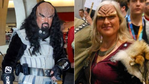 """""""Star Trek's"""" Klingons, of course, are a perennial favorite for cosplayers at any fan convention. Check out these two from Comic-Con 2010 and weigh in on your favorite below."""