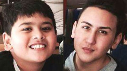 Miguel Calehr, left, and his older brother Shaka were both aboard the flight. They were on their way to Bali to visit their grandmother. Their middle brother, Mika, was supposed to be on the flight as well, but it was fully booked.