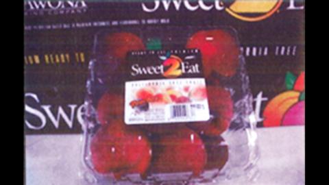 BJ's peaches in clamshell packaging  (4-4.5 lbs/6 per carton)