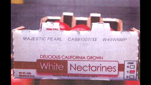 Costco white nectarines (5 lbs. per carton)