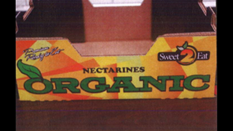 Costco organic nectarines (2 1/2 lbs. carton)