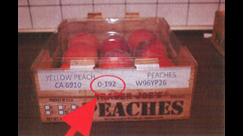 """Trader Joe's peaches (4-4.5 lbs.). <a href=""""http://www.fda.gov/Safety/Recalls/ucm405943.htm"""" target=""""_blank"""" target=""""_blank"""">Click here</a> to view a full list of the recalled products on FDA.gov."""