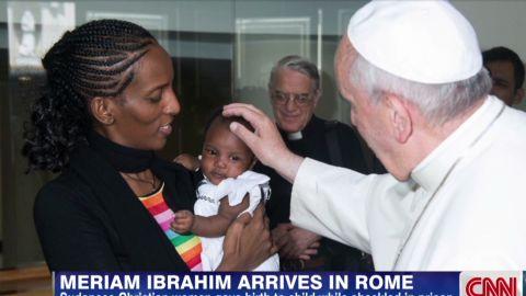 cnni sudanese christian woman meets pope_00013813.jpg