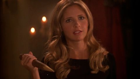 """Buffy Summers, played by Sarah Michelle Gellar, was vampires' worst nightmare in the beloved TV series """"Buffy the Vampire Slayer."""""""