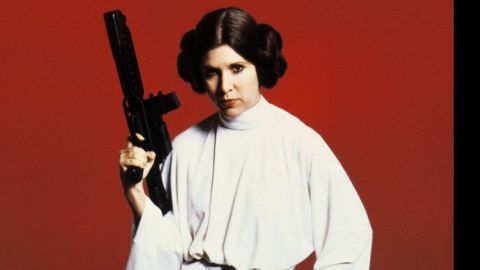"""Blasting her way out of the Death Star, we knew fairly quickly that Leia was not one to be trifled with in the """"Star Wars"""" films. Carrie Fisher played the role."""
