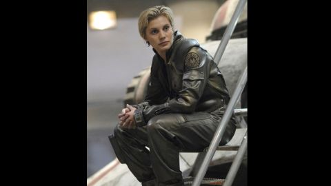 """They switched genders on us with this character in the 2000s reboot, and casting Katee Sackhoff as Starbuck  in """"Battlestar Galactica"""" was a stroke of genius."""