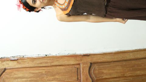 """Colombian student Maria Malagon began to dress as Frida Kahlo seven years ago for the carnival in her home city of Barranquilla. """"Each year I try to make a closer image of Frida. I greatly admire her work and her life story has left me with valuable messages,"""" she says. Malagon has visited Kahlo's house in Mexico twice, and says that her work """"drives me in some way to not lose my breath and live, that joy and suffering is what life is about."""""""
