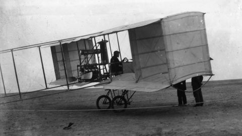 """Air power harks back to Civil War-era hot air balloons and was used all over the theaters of World War I for reconnaissance, bombardment, and aerial combat. Here, the French-built Voisin """"pusher,"""" originally built for reconnaissance and later developed as a bomber. It is credited with the first air-to-air kill."""