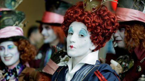 """Lori Ouellette portrays the Red Queen, from the film """"Alice in Wonderland,"""" on July 24."""