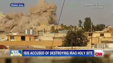 nr intv candida moss isis extremists destroy tomb of jonah _00001121.jpg