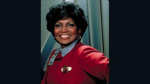 "Nichols pictured in 1982 film ""Star Trek II: The Wrath of Khan."""