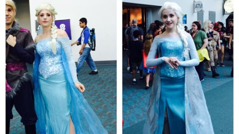 """Elsa from the wildly popular Disney movie """"Frozen"""" is certainly a hot costume this year."""