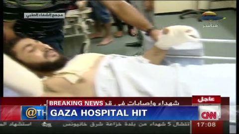 ath sot savidge israel hamas rocket hit hospital_00000907.jpg