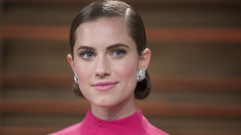 Actress Allison Williams attends the 2014 Vanity Fair Oscar party in West Hollywood.