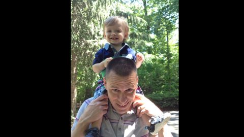 Benjamin Seitz, with his father Kyle, visits the zoo, one of his favorite places, says his mom.