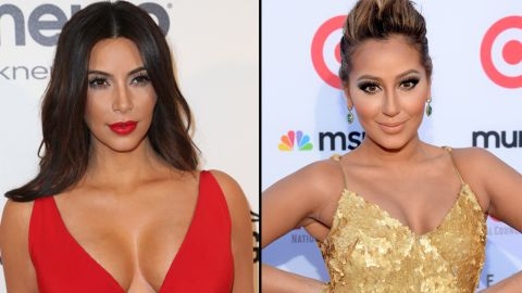 """Kim Kardashian didn't mention actress Adrienne Bailon by name when she went on a Twitter rant last July, but it was pretty obvious whom she was speaking of. Bailon, who used to date Kim's brother Rob, spoke ill of the past relationship in a magazine interview. Kim then tweeted, """"Funny how she says being with a Kardashian hurt her career yet the only reason she has this article is bc she is talking about a Kardashian ... So sad when people try to kick my brother when he is down #FamilyForever."""""""