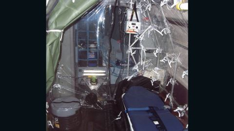 The containment system allows health care officials to move contagious people without endangering passengers or the flight crew.