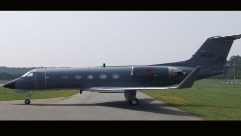 The CDC has outfitted this jet with the containment system. It is stored in Georgia near the health agency's Atlanta headquarters.