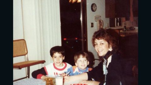 Brenda Stewart with her sons Richard and Jeremy, who both battled addiction and are now doing well.