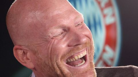 MUNICH, GERMANY - JULY 09:  FC Bayern Muenchen sporting manager Matthias Sammer laughs during a press conference at the Bayern Muenchen training ground on July 9, 2014 in Munich, Germany.  (Photo by Alexandra Beier/Bongarts/Getty Images)