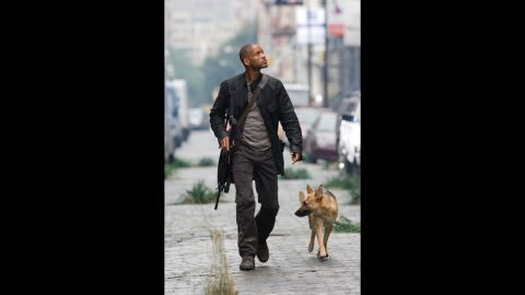 """In 2007's """"I Am Legend,"""" a manmade virus that was created as a cure for cancer has a deadly mutation that leaves a virologist believing that he is the only healthy human left in the world. He is able to develop a cure but at the cost of his own life."""