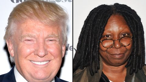 """Last August, Donald Trump protested <a href=""""https://twitter.com/realDonaldTrump/status/495379061972410369"""" target=""""_blank"""" target=""""_blank"""">via Twitter</a> about two American Ebola patients returning to the United States. Whoopi Goldberg responded on her show that while Trump is her friend,<a href=""""http://www.thewrap.com/whoopi-goldberg-lashes-out-at-donald-trump-for-stupid-ebola-virus-tweets-on-the-view/"""" target=""""_blank"""" target=""""_blank""""> """"that was a stupid comment. Do your homework, Donald. Just do your homework.""""</a>"""