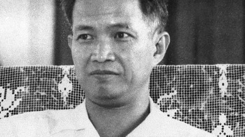 Historical, undated photo of Khieu Samphan. During his trial, Khieu Samphan expressed remorse, claiming he was unaware of the full extent of the atrocities. He became the public face of the Khmer Rouge as it sought international credibility after its fall.