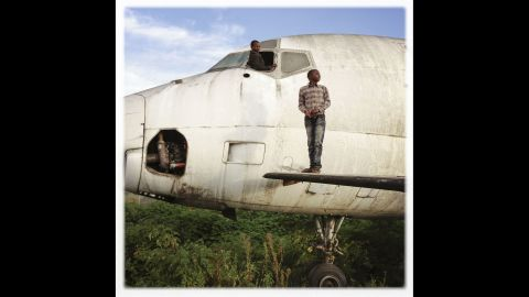 After years of war, and a volcanic eruption in 2002, many planes have been abandoned at the airport.