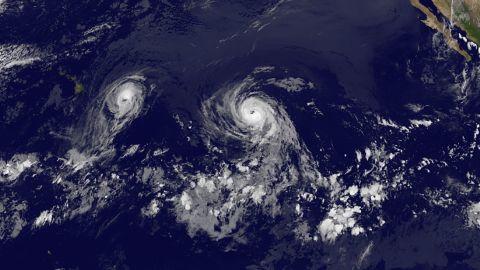 Hurricane Iselle, followed by Julio