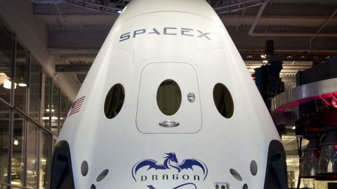 Dragon V2 reusable spacecraft from Elon Musk's SpaceX