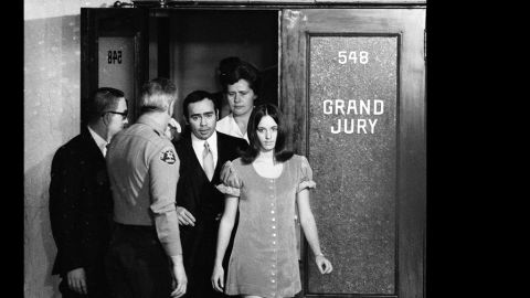 """A break in the case came when Susan Atkins, already in jail, told a fellow inmate about the Tate murders. """"Because we wanted to do a crime that would shock the world, that the world would have to stand up and take notice,"""" she said."""