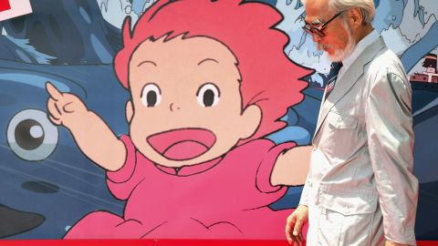 """File: Hayao Miyazaki attends the opening of his film """"Ponyo on the Cliff by the Sea"""" (2008)."""