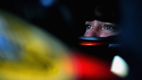 Stewart sits in his car during practice for the NASCAR Sprint Cup Series Camping World RV Sales 301 at New Hampshire Motor Speedway on July 12, 2013 in Loudon, New Hampshire.